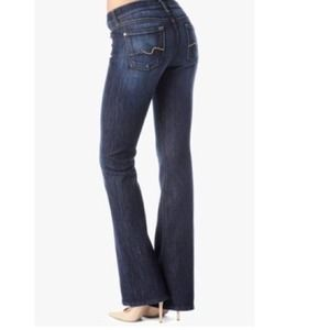 7 For All Mankind Bootcut w/ Gold Sparkle